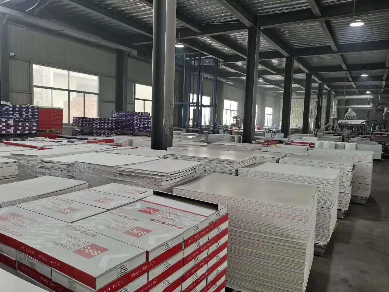 stock of SPC flooring